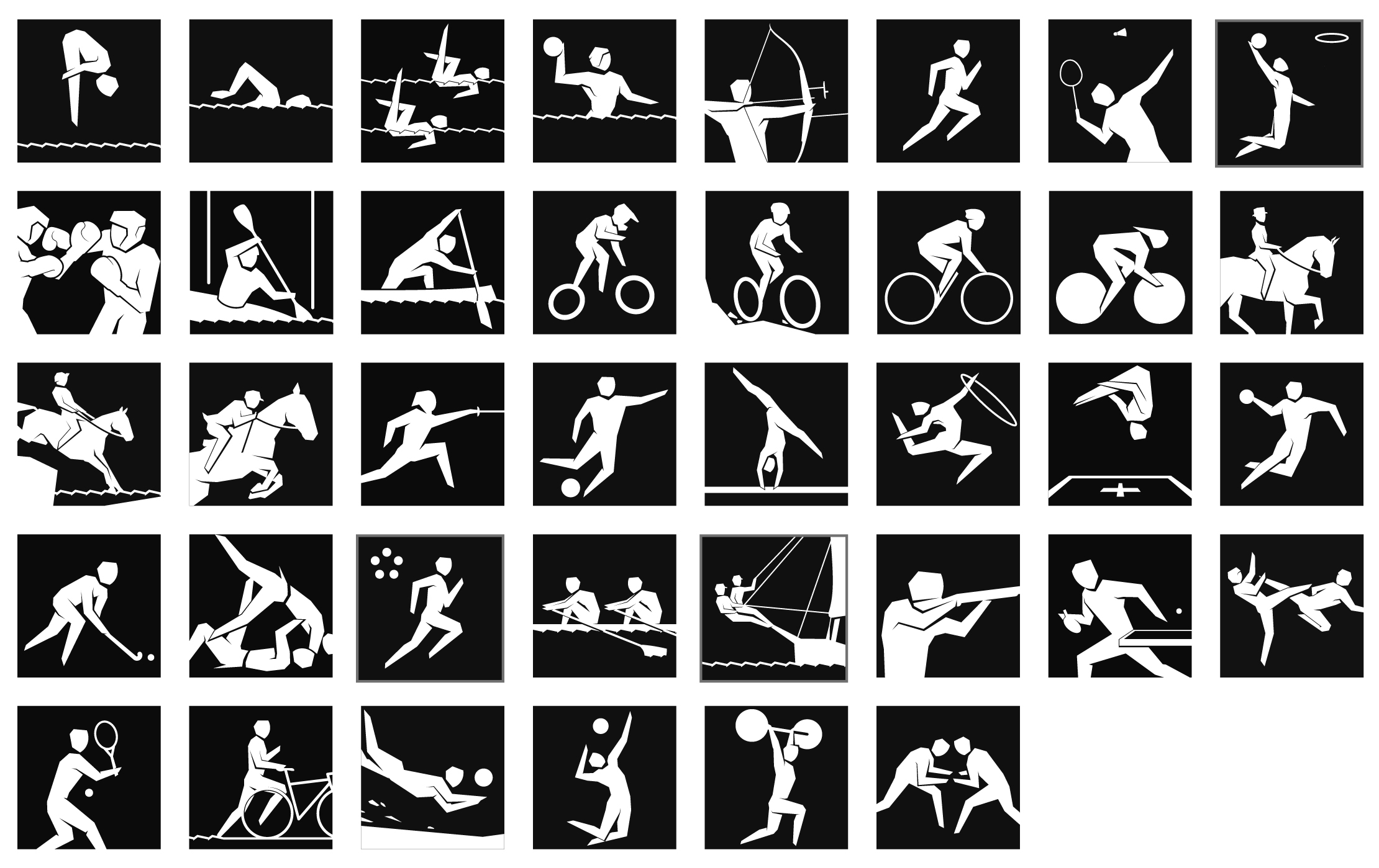 pictograms � architecture of the games