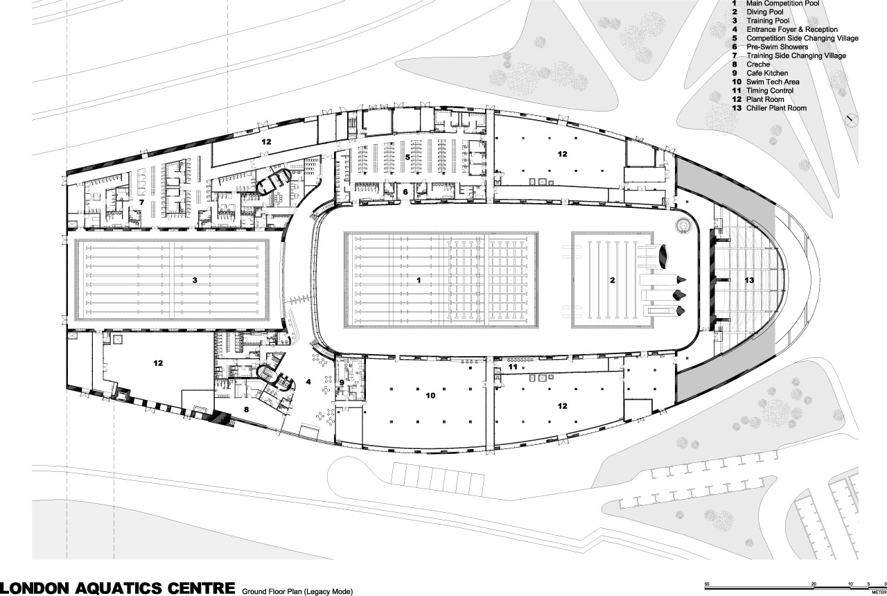 London 2012 aquatics centre diagrams and drawings for Plano piscina