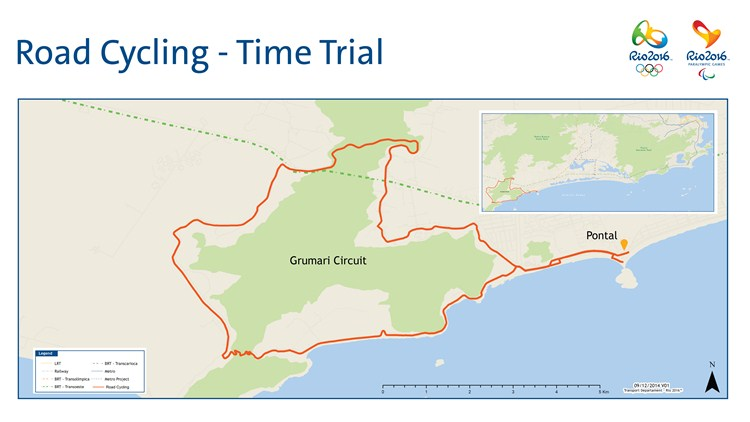 Rio 2016 olympic road race and time trial courses confirmed