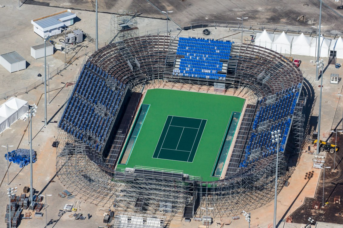 Rio 2016 construction temporary stands 2 architecture for Construction de stand