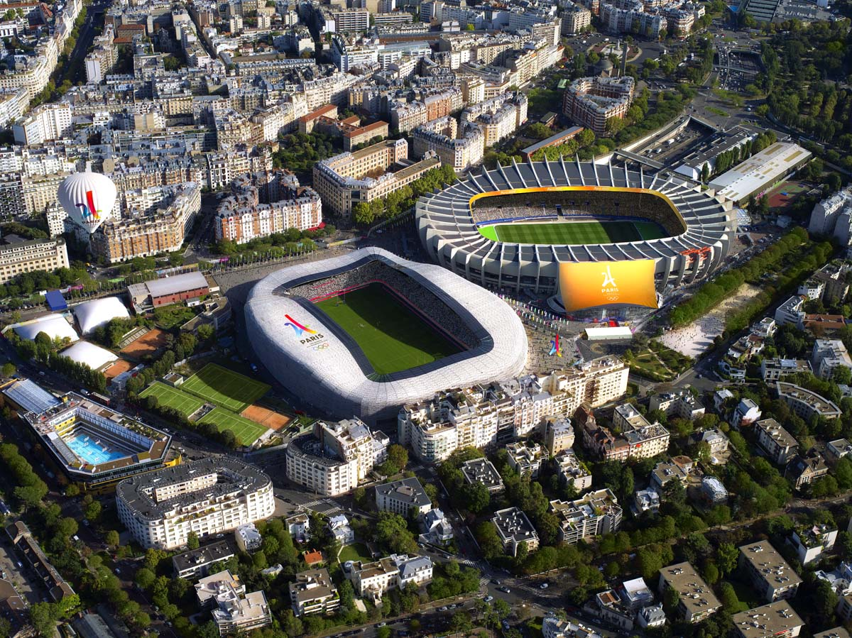 2024 bid list of paris 2024 venues architecture of the - Parc des princes porte de saint cloud ...