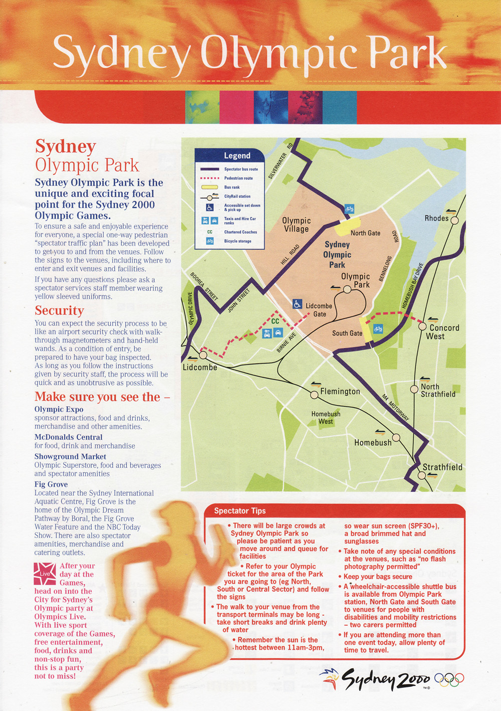 Sydney Olympic Park Map 1