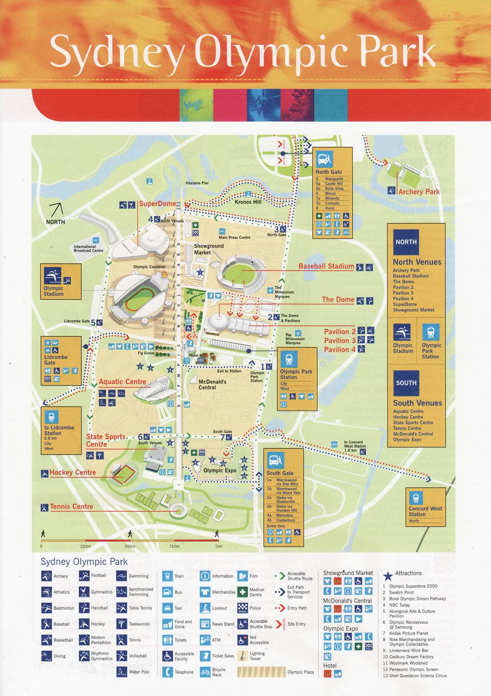 Sydney Olympic Park Map 2