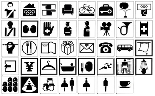 Tokyo 1964 Pictograms Architecture of the Games