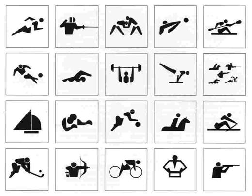 tokyo sport pictograms