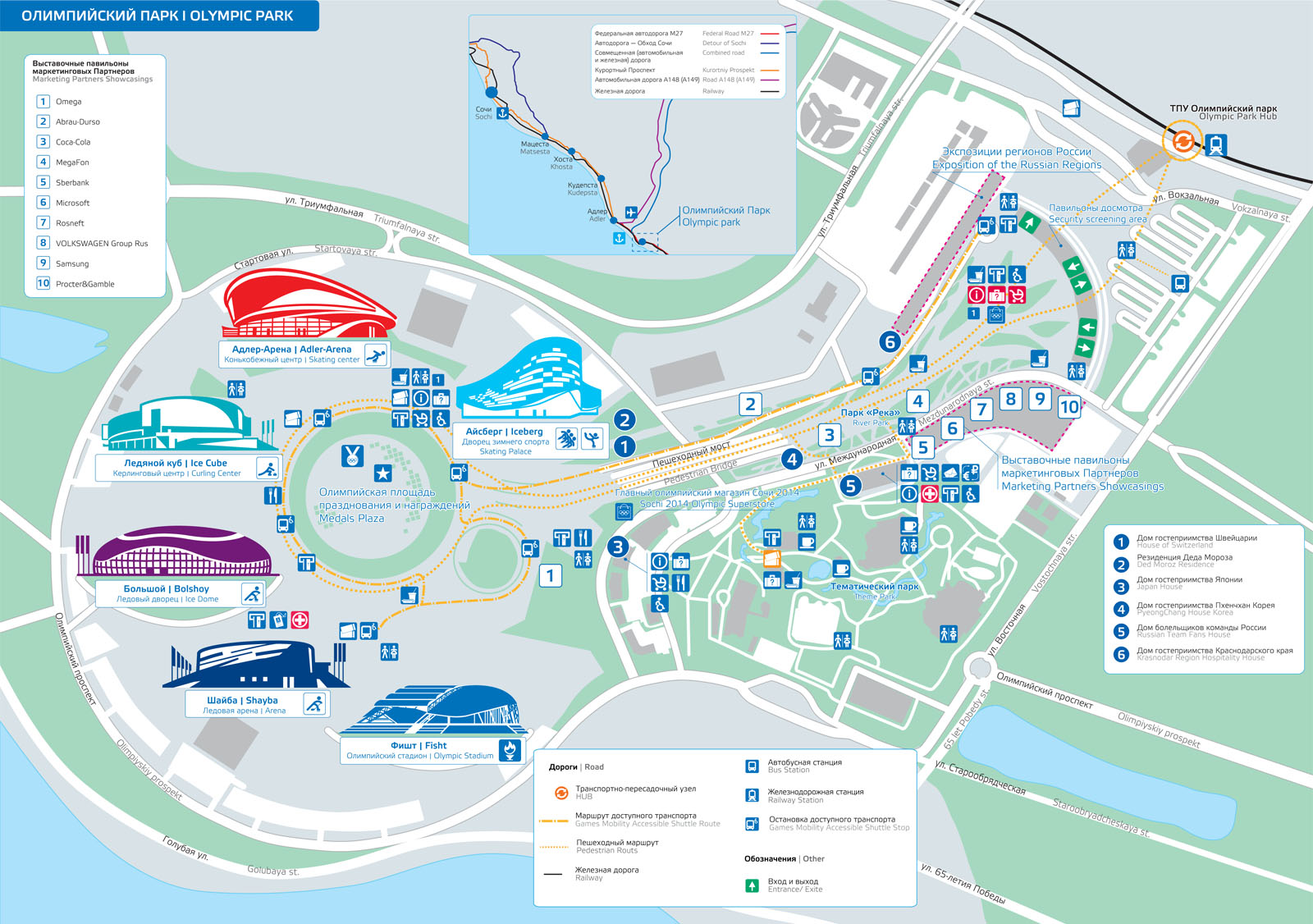 Sochi 2014 Maps Architecture Of The Games