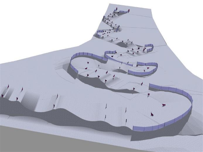 para-snowboard course