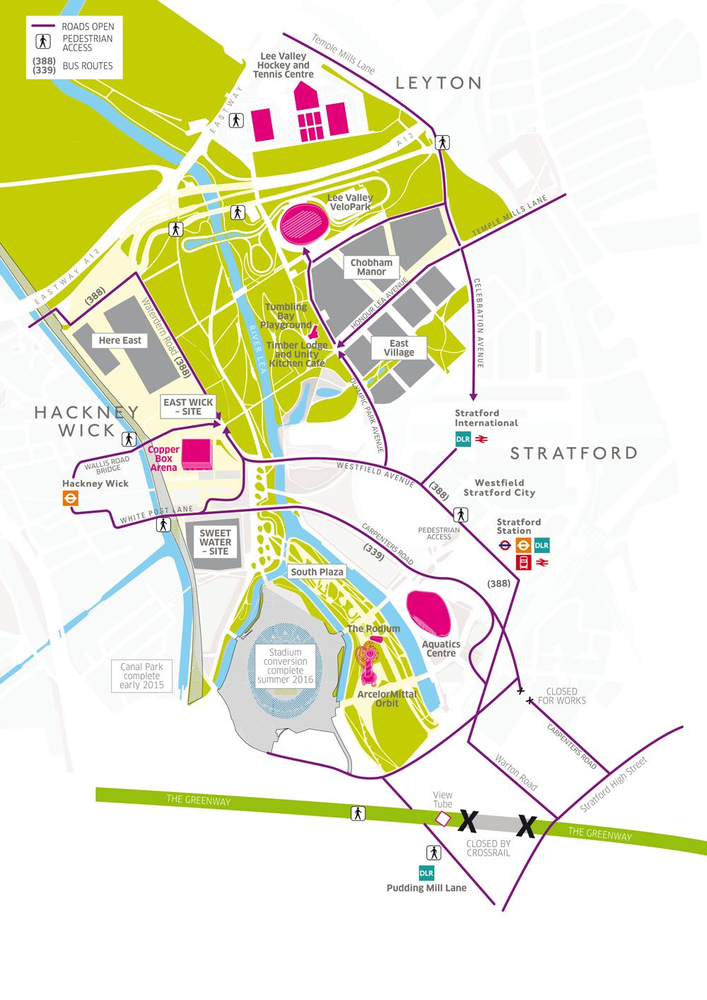 Park map QEOP March 2014