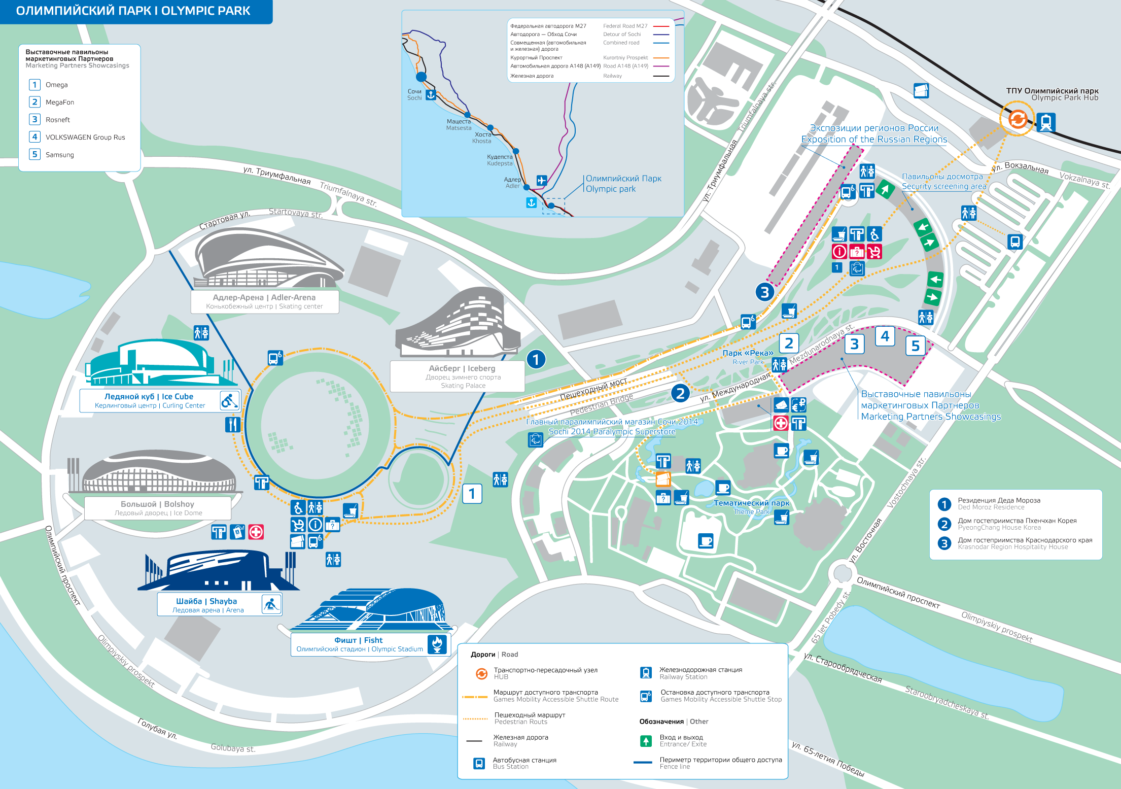 sochi paralympic coastal cluster map