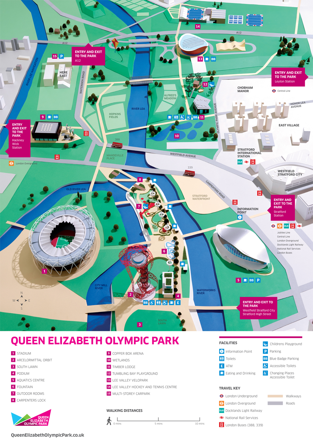 Queen Elizabeth Olympic Park Map London 2012; Park map Queen Elizabeth Olympic Park (April 2014  Queen Elizabeth Olympic Park Map