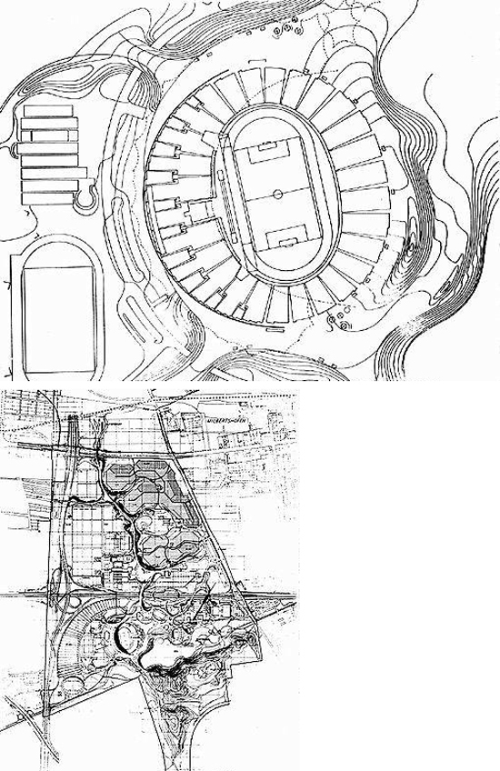 Munich Olympic Stadium plan