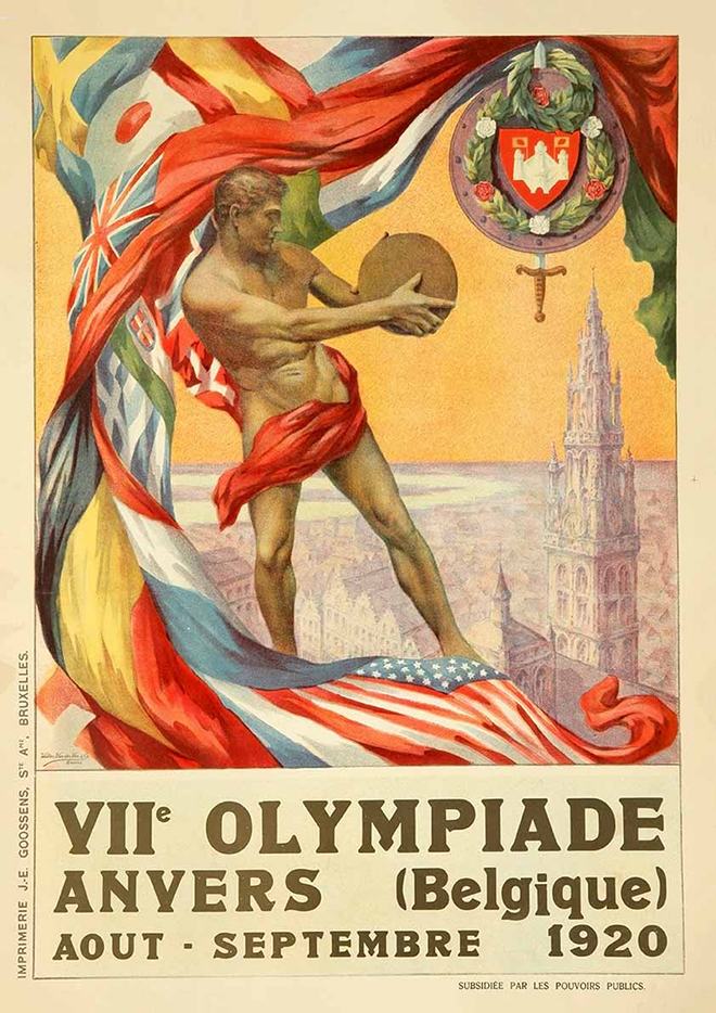 antwerp olympic poster
