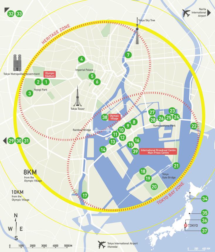 tokyo 2020 venue plan