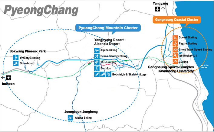 pyeongchang 2018 venue map