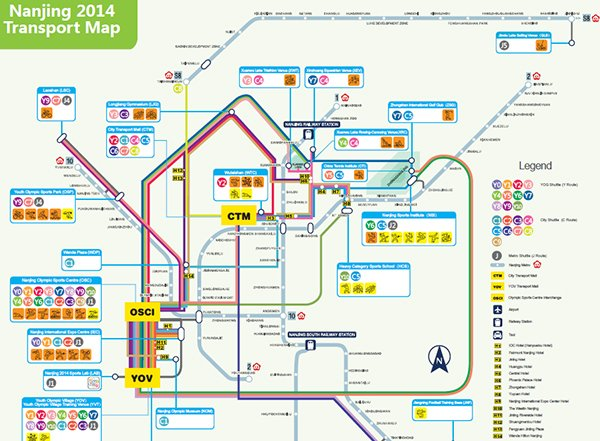 Nanjing 2014 Transport Map