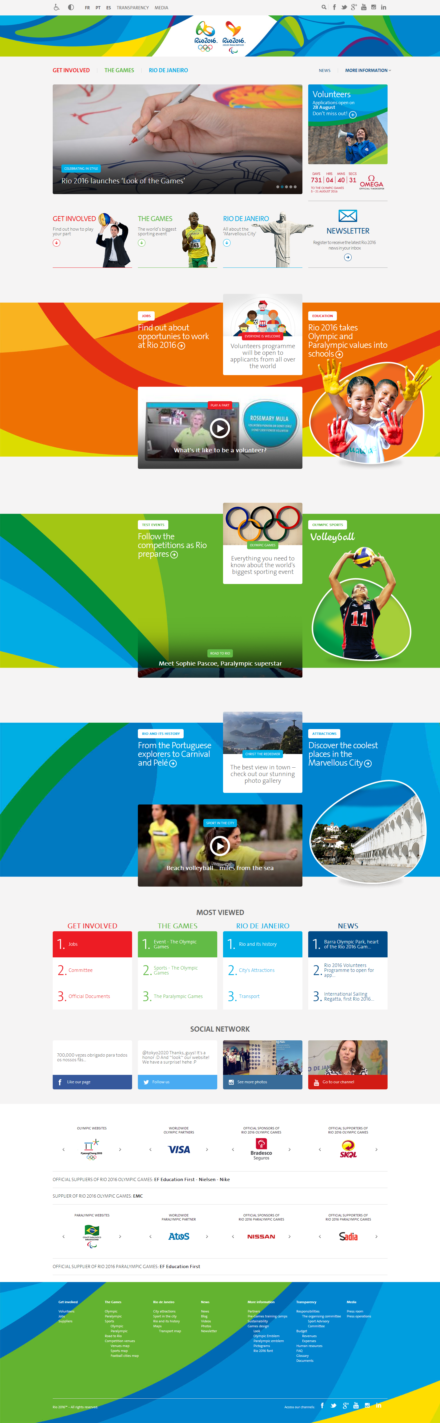 Screen capture www.rio2016.com