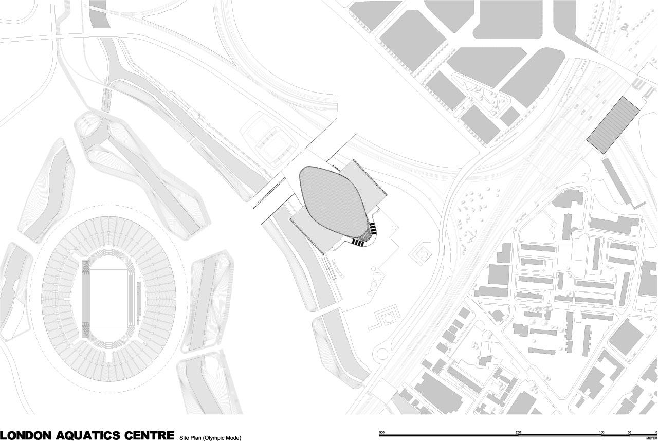 London 2012 Aquatics Centre Diagrams And Drawings
