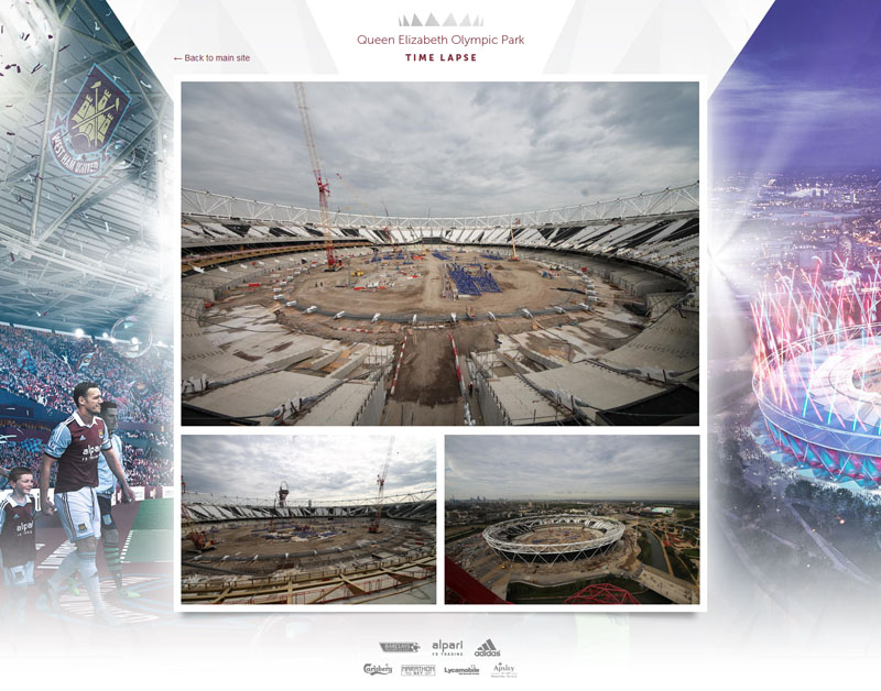 Follow transformation Olympic Stadium via hi-res time-lapse cameras