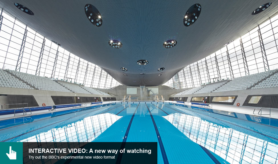 aquatics centre interactive video