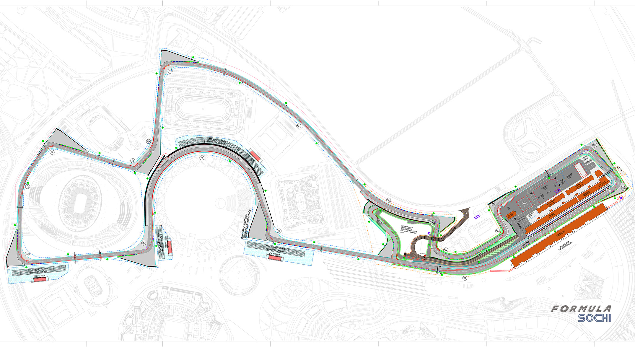 Formula 1 Sochi Circuit Map