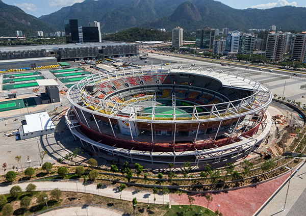 Olympic Tennis Centre - Photo courtesy of André Motta/brasil2016.gov.br