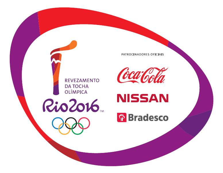 Rio 2016 Olympic torch relay logo - © Rio2016