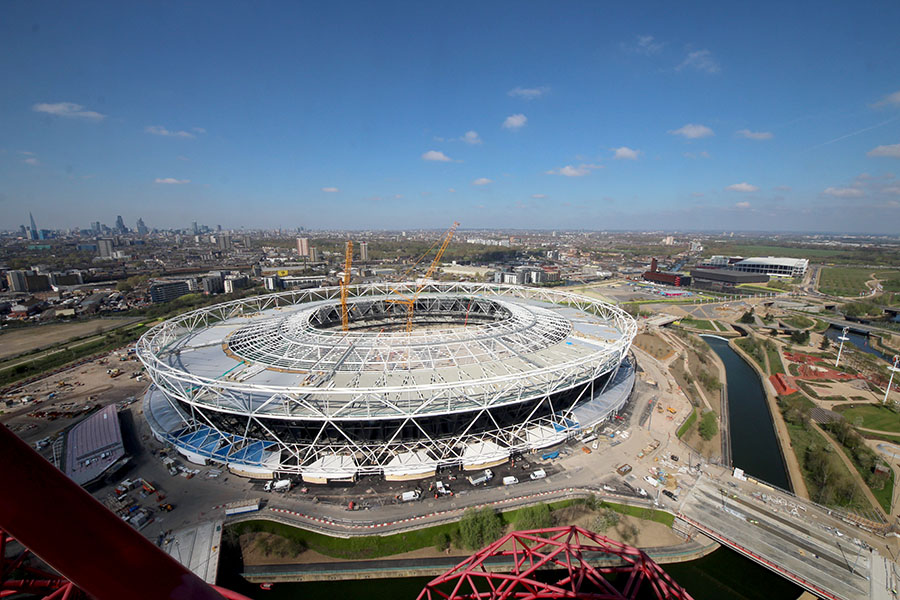 London 2012 Transformation Olympic Stadium 8 Roof Structure Almost Finished on wall stadium 2012