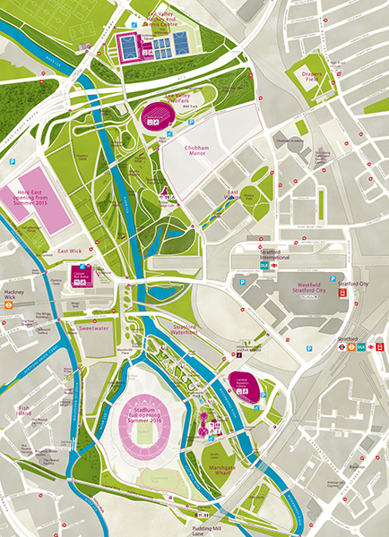 Queen Elizabeth Olympic Park Map London 2012; Park map Queen Elizabeth Olympic Park (May 2015  Queen Elizabeth Olympic Park Map