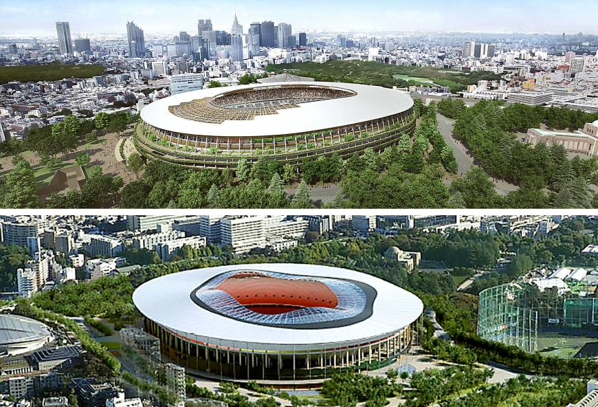 © Japan Sports Council / Photo montage by The Japan Times