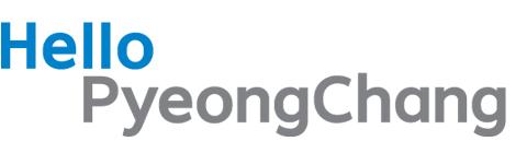 Hello PyeongChang emblem