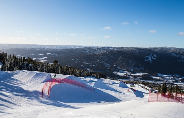 Hafjell Olympic Slope during trainning for mens and women's salom. Youth Olympic Games, Lillehammer Norway, 11 February 2016. Photo: Simon Bruty Handout image supplied by YIS/IOC