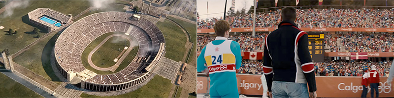 Race – © 2016 Focus Features / Eddie the Eagle – © 2016 20th Century Fox