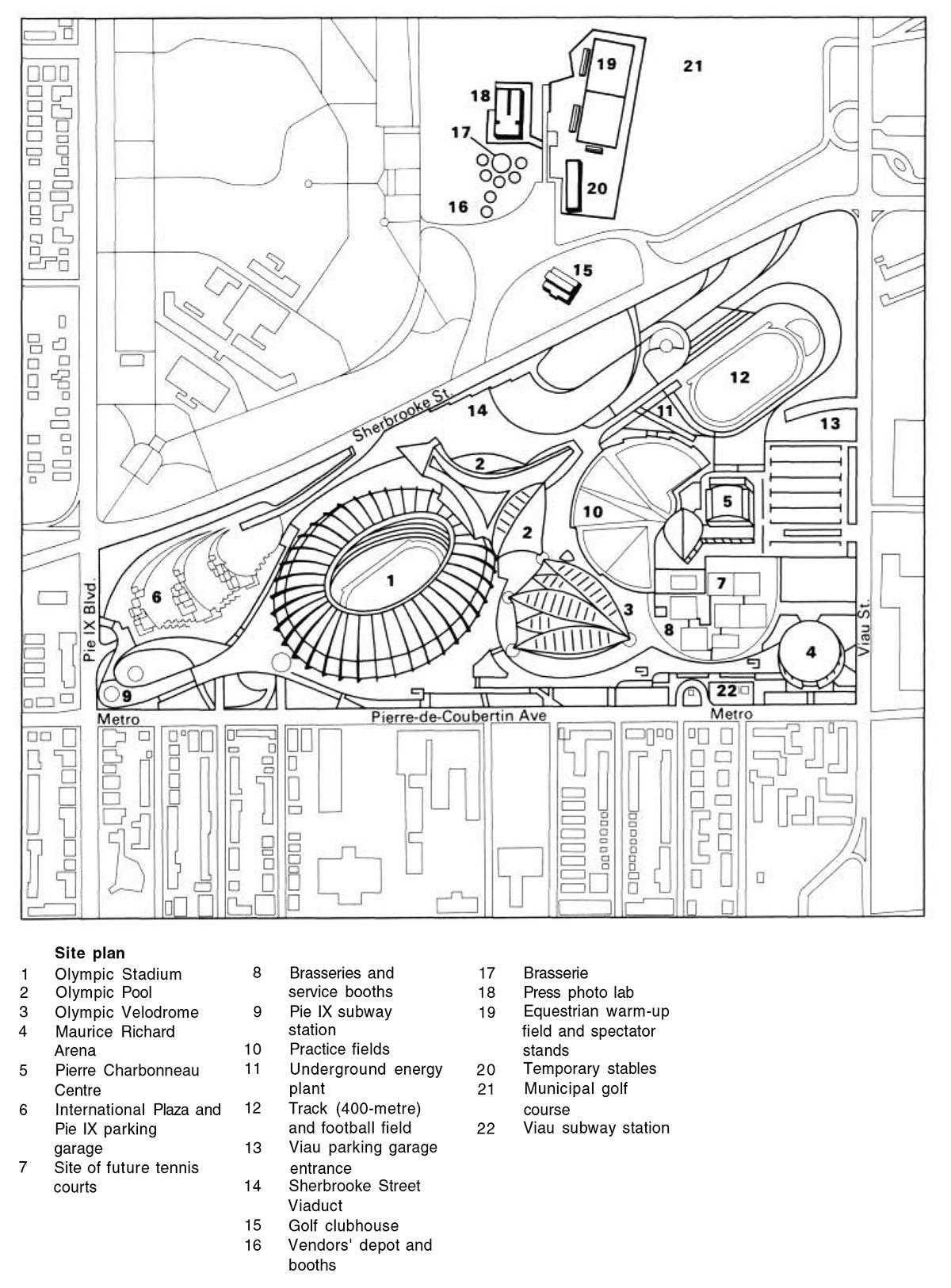 1976 montr u00e9al  u2013 architecture of the games