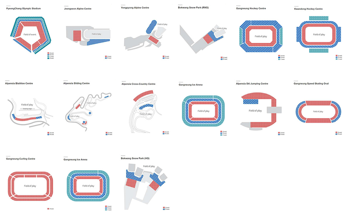 PyeongChang 2018; Schematic venue maps – Architecture of the Games
