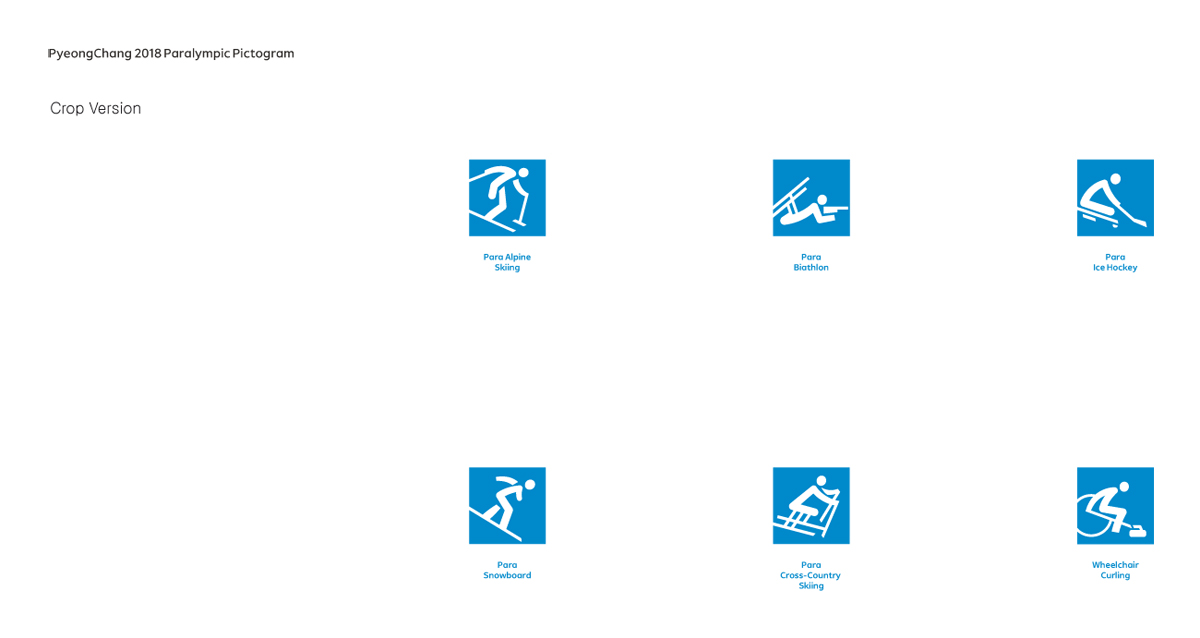 PyeongChang 2018 Pictograms Paralympic Games
