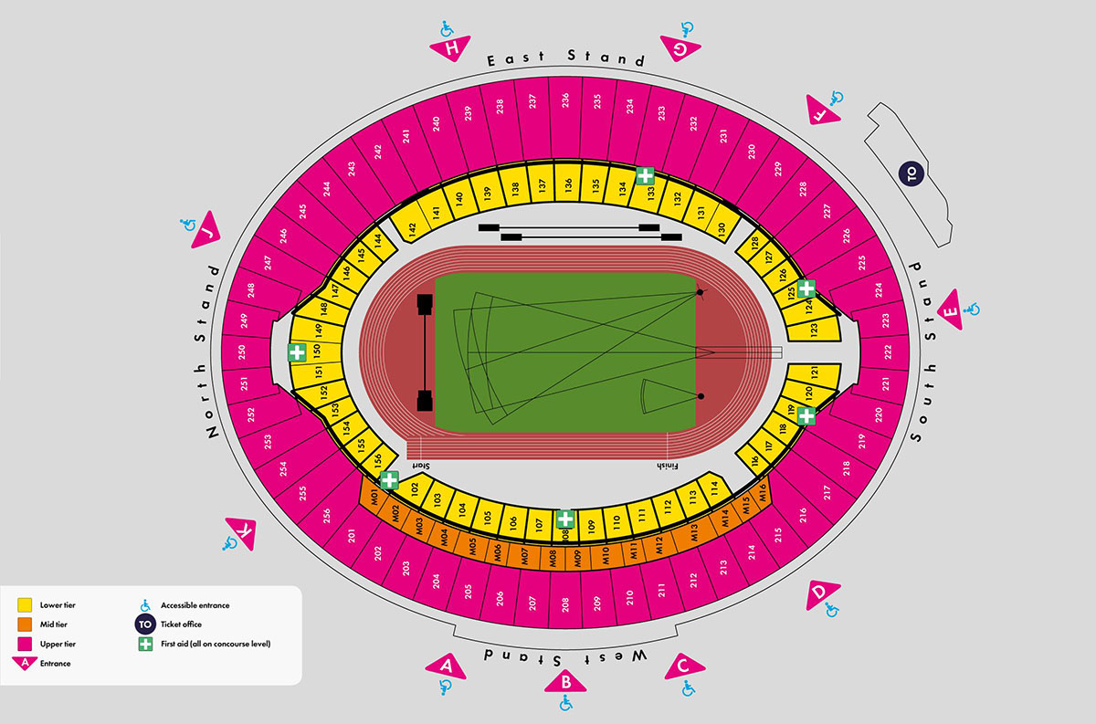 Map Of London Soccer Teams.London 2012 Stadium And Park Maps Iaaf World Championships