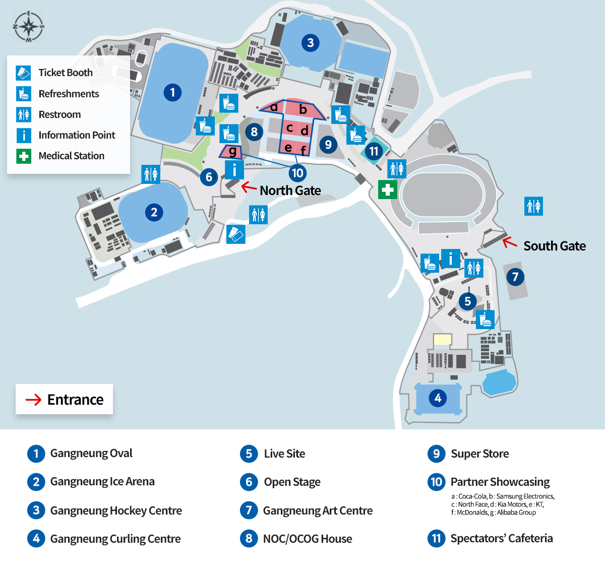 PyeongChang 2018 Map Gangneung Olympic Park Architecture of the Games