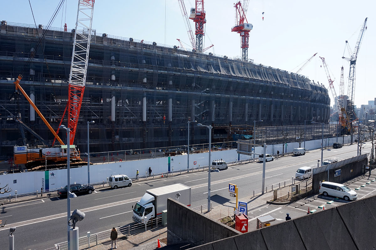 Tokyo 2020 photo gallery construction new national for Architecture 2018