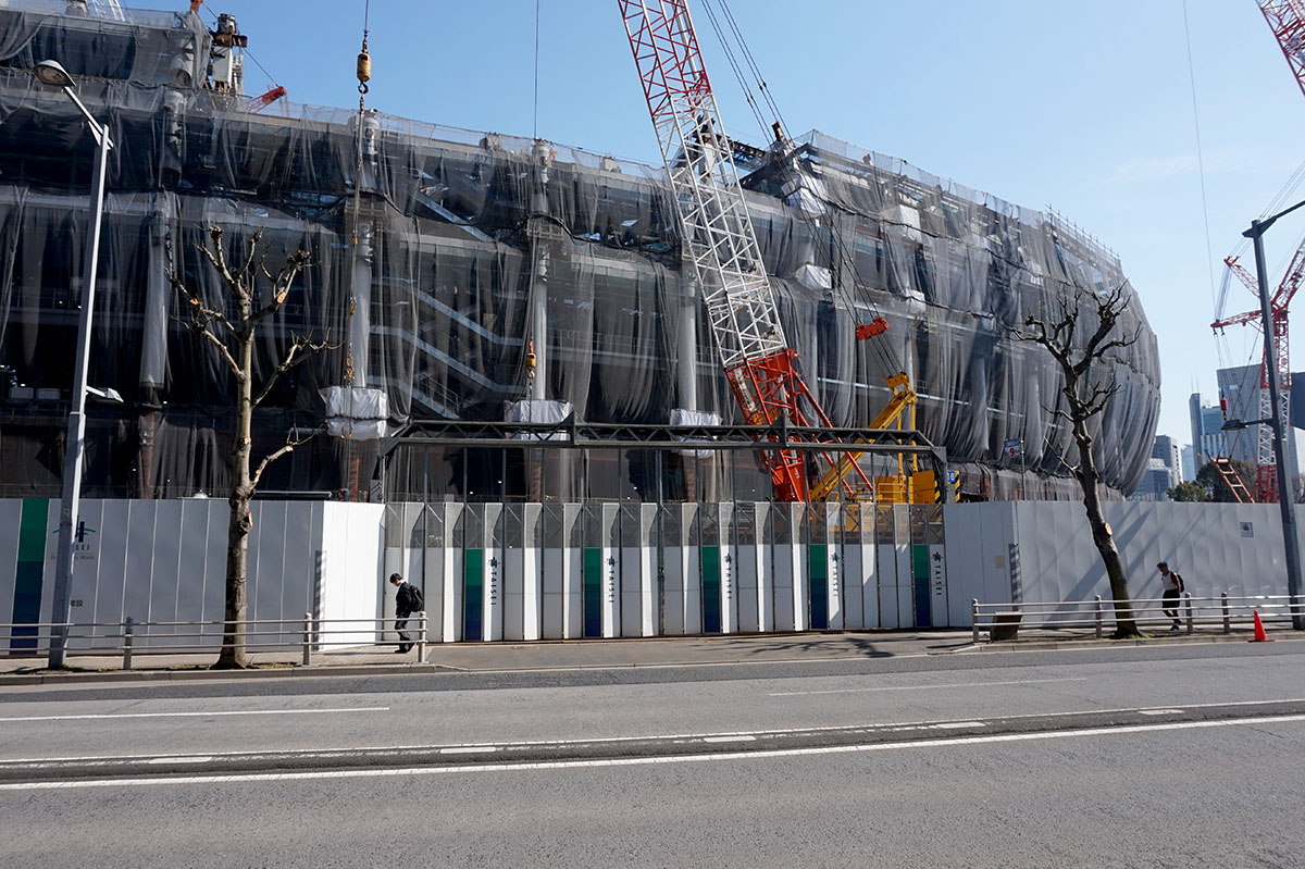 tokyo 2020  photo gallery  construction new national