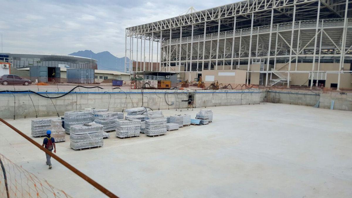 Olympic Aquatics Stadium - Construction
