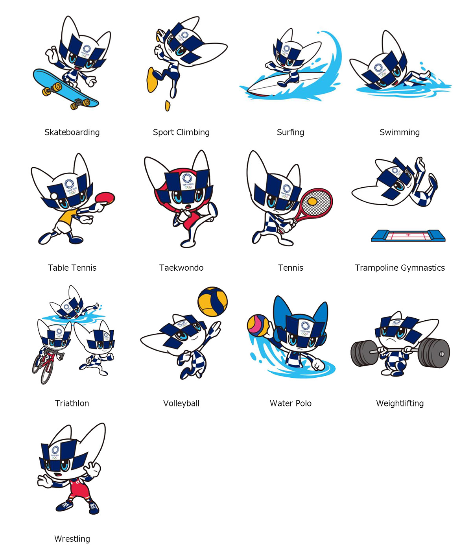 Tokyo 2020; Mascot Images Representing Olympic ...