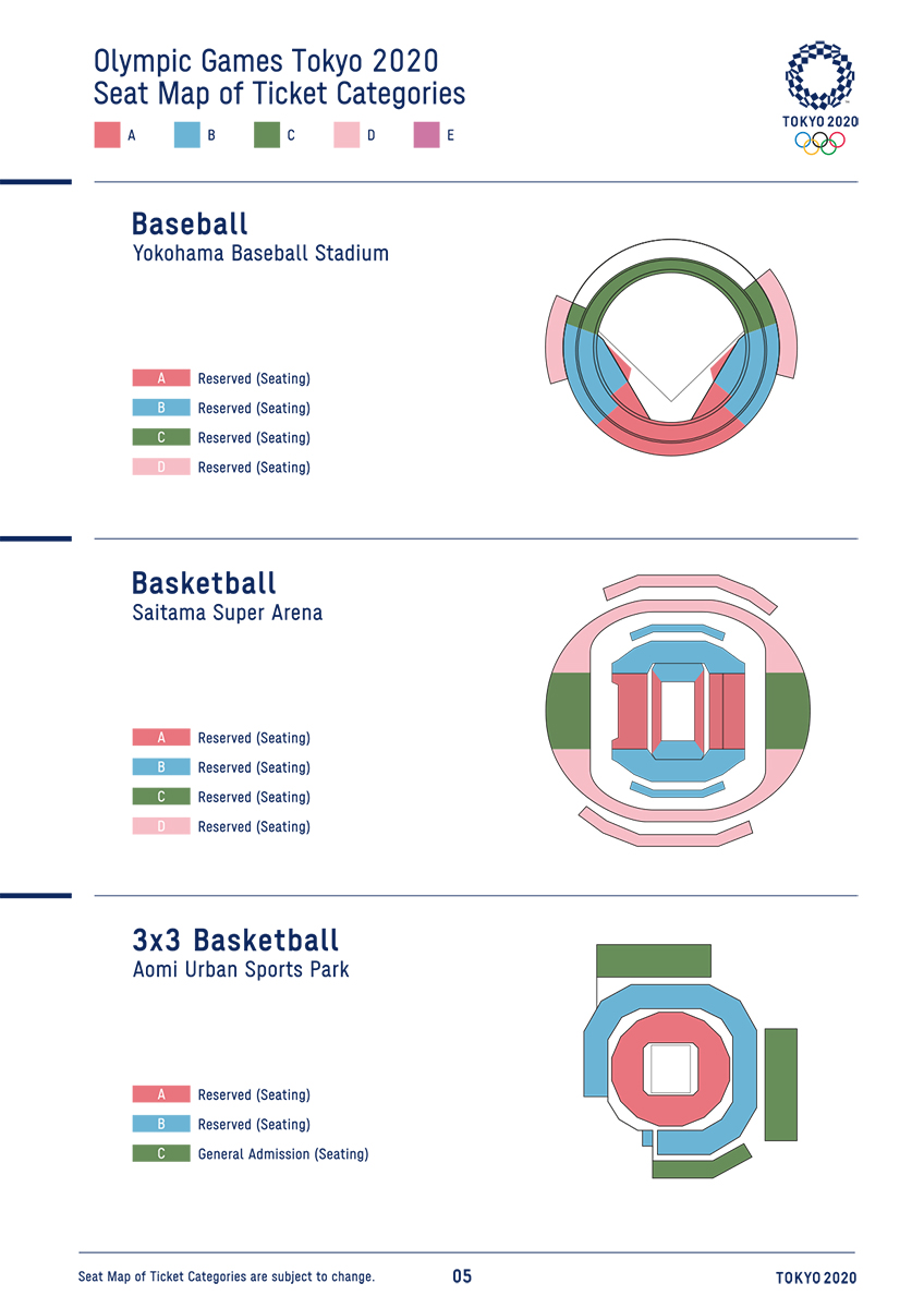 Tokyo 2020 Tickets Price List And Seat Map Guide Architecture Of The Games