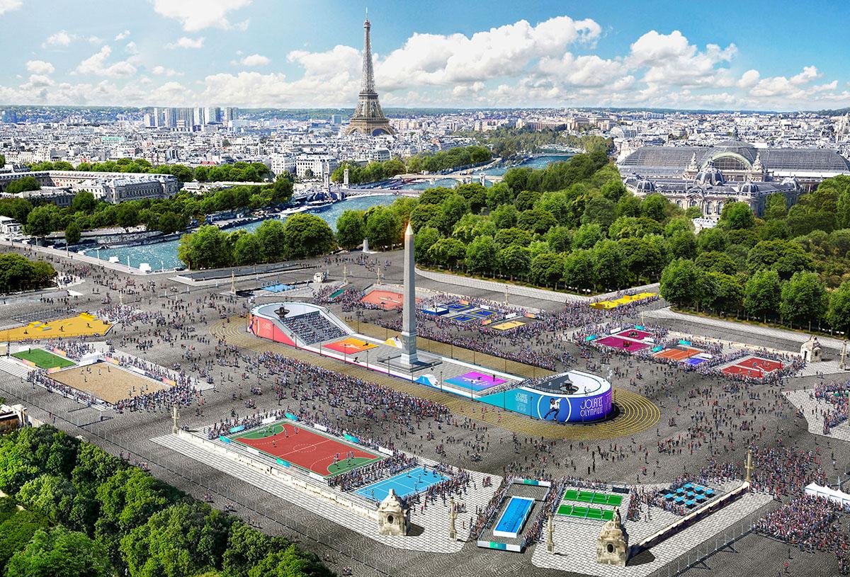 Paris 20; 20 June – Olympic Day 20 – Place de la Concorde ...