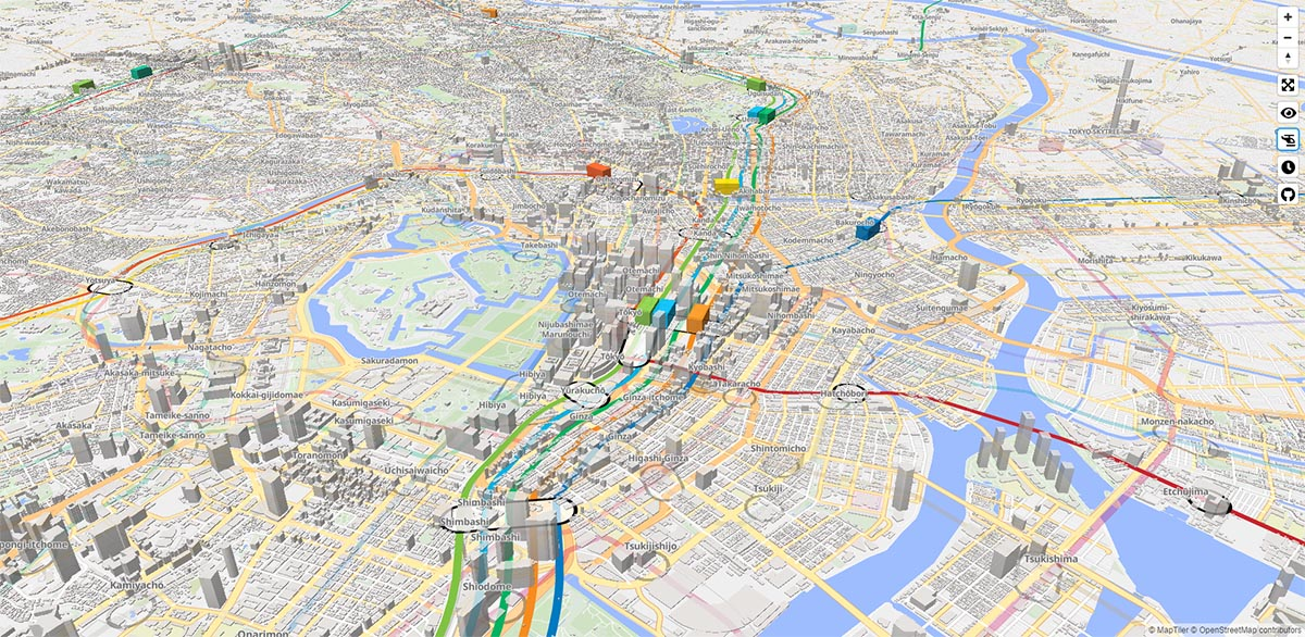 Tokyo 2020 Real Time 3d Digital Map Of Tokyo S Public Transport System Architecture Of The Games